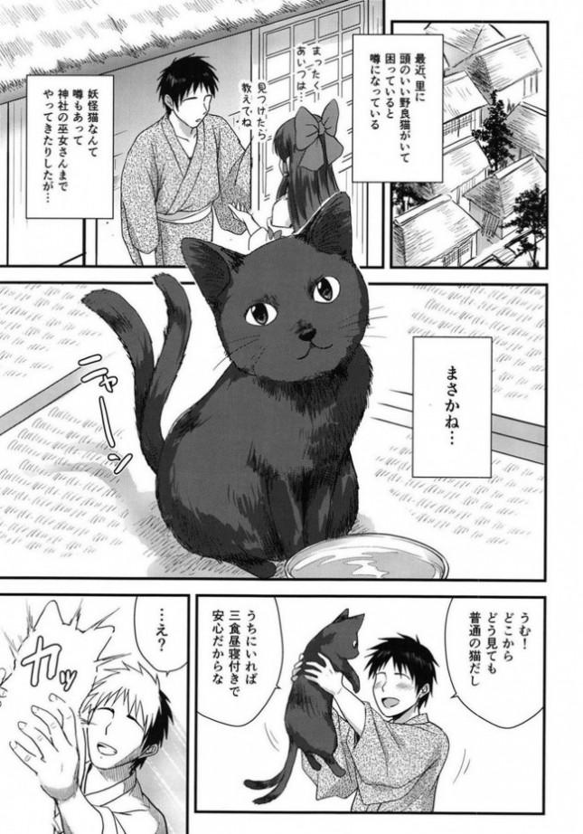 【東方Project エロ同人】巷では頭の良いネコが騒ぎを起こしているという。そのネコは妖怪という話もあるが…【無料 エロ漫画】(4)
